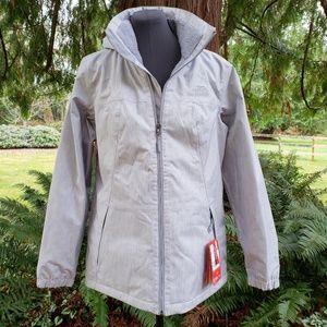 North Face Heather Grey Fleece-lined Jacket